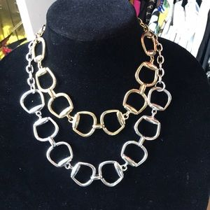 Jewelry - 2 Horesbit Necklaces: Gold & Silver